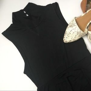 Kensie black ruffle dress, turtleneck